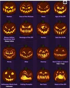 Scary Pumpkin Faces You are in the right place about DIY Costume halloween Here we offer you the most beautiful pictures about the funny DIY Costume you are looking for. When you examine the Scary Pum Halloween Night, Holidays Halloween, Halloween Treats, Halloween Decorations, Halloween Party, Scary Halloween Pumpkins, Halloween Costumes, Halloween Pumkin Ideas, Deco Haloween