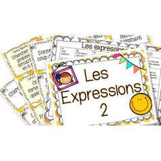 Les expressions 2 - Cartes à tâches !