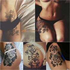 Rose Tattoos A rose tattoo is the most popular choice out of all the flower tattoos. It is said that a person with a rose tattoo typically has very high Rose Tattoos For Women, Black Rose Tattoos, Cool Tattoos For Guys, Great Tattoos, Tattoos For Women Small, Retro Tattoos, Trendy Tattoos, Popular Tattoos, Tattoo Girls