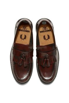 Fred Perry - Fred Perry x George Cox Tassel Loafer Ox Blood Fred Perry  Shoes Women 376580694c053