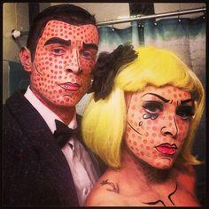 Pop art couple