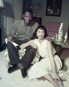 Nat King Cole and wife Maria