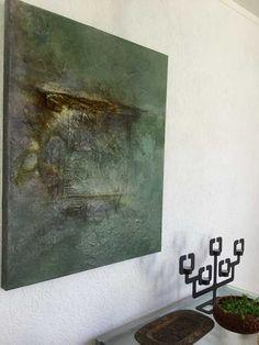Inge van Boven : Materie schilderij met acryl. Canvas 3D doek 80/100
