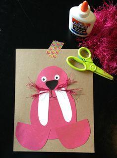 Preschool Craft | A Winter Walrus