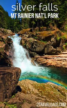 The most beautiful hike in Mt Rainier National Park is Silver Falls, and you don't even see the mountain. Beautiful waterfall, pools for splashing, good for all hiking levels. 2traveldads.com