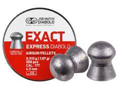 JSB Match Diabolo Exact Express .177 Cal 7.87 Grains 2000 Ct 4 Tins of 500