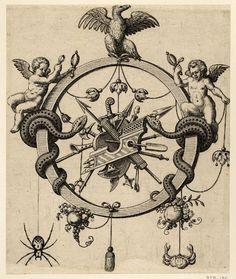 Братья DE BRY.16 век. Алфавиты.