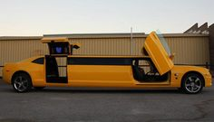 A Camaro Bumblebee Transformer Limo available for all occasions in Perth, Australia. The exotic Gold and Yellow Chevrolet, with full bumblebee theme interior… My Dream Car, Dream Cars, Yellow Camaro, Limousine Car, Limo For Sale, Motorcycle Paint Jobs, Chevrolet Camaro, Old Cars, Baby Car