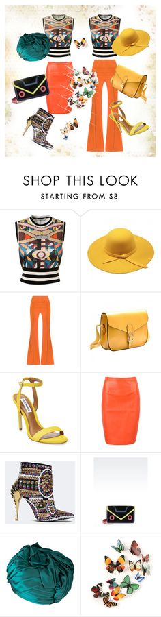 """""""colour splash-butterfly"""" by gulokmini ❤ liked on Polyvore featuring Givenchy, Giuliana Romanno, Steve Madden, WithChic, Privileged, Emporio Armani and Christian Dior"""