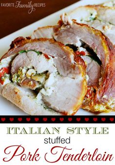 This is quite possibly the best stuffed pork tenderloin I have ever had. It looks gourmet, but it is SO easy!