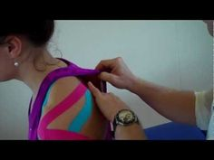 How to apply Kinesiology Taping for Shoulder Pain (Rotator Cuff - Supras...