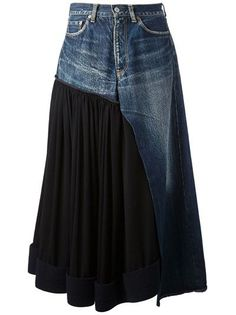 Sewing Skirts Jeans Diy Ideas New Ideas Sewing Clothes, Diy Clothes, Sewing Jeans, Clothes Refashion, Mode Jeans, Denim Ideas, Denim Crafts, Jeans Rock, Recycled Denim