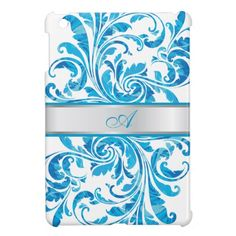 Blue Floral Damask With Silver Line iPad Mini Case    25% Off iPad Mini Cases  Use Code at Checkout: IPADMINICASE  Offer expires 3/31/13 at 11:59 PM (PT)  See Details
