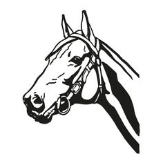 horse head wall tattoo  #silhouette #digistamp