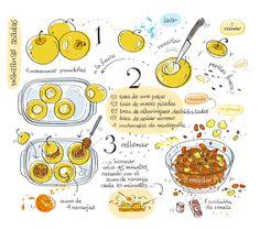 Cartoon Cooking on Behance Manzanas Asadas Fruit Recipes, Cooking Recipes, Easy Recipes, Cartoon Recipe, Dorm Food, Food Journal, English Food, Food Drawing, Baked Apples