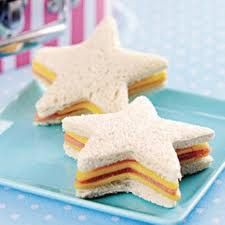 princess party food ideas - shaped sandwhiches..