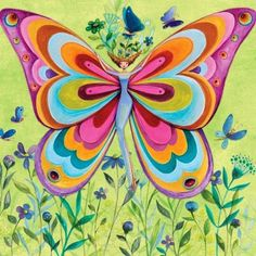 Butterfly artist Illustration by www.MilaMarquis.com and www.Facebook.com/MilaMarquisillustration