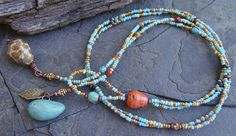 Art Bead Fall Autumn Turquoise Topaz Stoneware Bird by jean a. wells