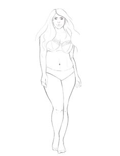 Drawing Real Bodies in Fashion Illustration + Free Fashion Templates