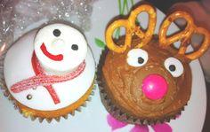 Christmas Cupcake Ideas :( Snowman and Reindeer <3