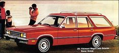1979 Ford Fairmont Station Wagon with Exterior Decor Option,. We have one with a factory in it the only thing making it cool Ford Classic Cars, Best Classic Cars, Ford Granada, Car Ford, Ford Motor Company, Station Wagon, Vintage Cars, Vintage Style, Pickup Trucks