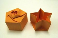 Origami Box Pentagon Star Base 300x198 Origami Box   Pentagon Star Base