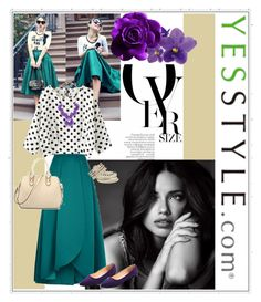 """Yesstyle-Teal and Violet"" by fashionista-jaygee ❤ liked on Polyvore featuring Chanel, Victoria's Secret, Pinko, Ainvyi, Sunsteps, VANINA, Forever 21, maurices, BeiBaoBao and foo"