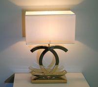 Hotel Lobby, Chrome, Table Lamp, Shades, Led, Lighting, Luxury, Home Decor, Shadows