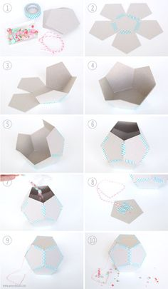 DIY Piñata of any size using geometric shapes. Tutorial found at www.amyrobison.com/blog #piñata #party