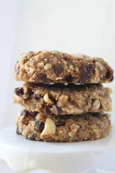 (Chunky Monkey Cookies) I love finding recipes that are easy to make, and that I can feel really good about feeding to me kids on a regular basis! My mom passed on a recipe to me that came from m...