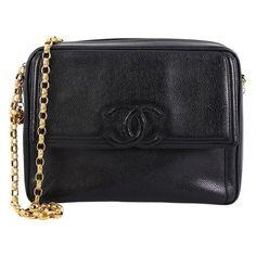 775fd11dc3cb Chanel Vintage Front Pocket CC Camera Bag Caviar Medium