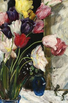 Olle Hjortzberg  Still Life with Tulips  1925