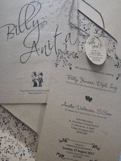 Our wedding invitation with a simple and natural-colored design. Our favorite bible verse is printed at the front side. :)