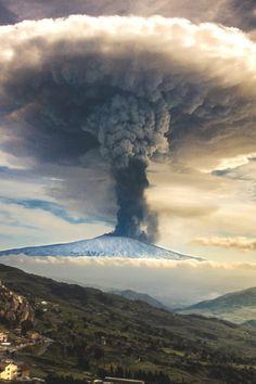 Seize the moment. Mount Etna Volcano Eruption December 2015