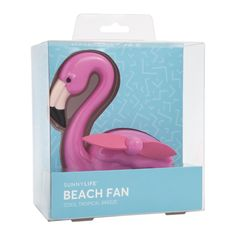 Beach Fan Flamingo