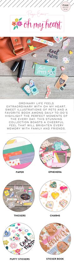 Check out the beautiful new Oh My Heart collection from Pink Paislee and Paige Evans!