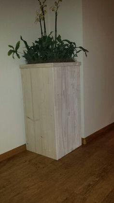 Plantenbak steigerhout white wash
