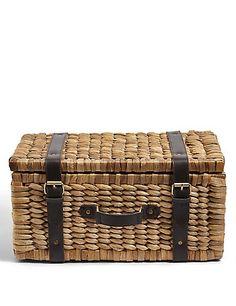 Water Hyacinth Suitcase Storage Box | M&S
