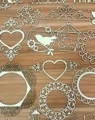 Image result for wooden laser cut folk pattern heart