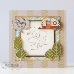 August SOTM Happy Trails Card by Shelly Mercado #Cardmaking, #Stampofthemonth, http://tayloredexpressions.com/kits.html