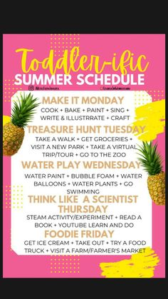 Toddler Learning Activities, Baby Learning, Sensory Activities, Infant Activities, Summer Fun For Kids, Summer Activities For Kids, Outside Activities For Kids, Toddler Schedule, Kids Summer Schedule