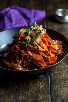 Harissa Carrot Salad with Feta Cheese by simplydelicious #Salad #Carrot #Harissa #Healthy