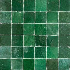 Green Moroccan Tiles also known as green zellige tiles are idea for kitchen backsplash, bathroom, shower, pool waterline. Moroccan Tile Bathroom, Moroccan Kitchen, Moroccan Lamp, Moroccan Tiles, Moroccan Lanterns, Moroccan Tile Backsplash, Waterline Pool Tile, Kitchen Splashback Tiles, Mediterranean Tile