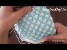 Ikı renkli petek örgü modeli - YouTube