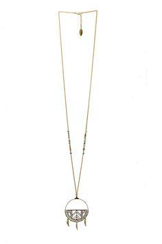 Sautoir collection Amazone printemps été 2015. Bijoux fantaisie, bijoux rétro La Petite Fabric de Bijoux #créateur #bijoux #bijouxrétro #madeinfrance