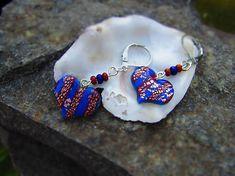 Atelier-Muza / Náušnice pestrofarebné potešenie (pruhované srdiečka) Earrings Handmade, Belly Button Rings, Jewerly, Atelier, Jewlery, Schmuck, Jewelry, Jewels, Belly Rings