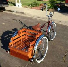 Perhaps a trike is the way to go…Granted I couldn't put it on the bicycle rack… Bicycle Sidecar, Cruiser Bicycle, Bicycle Rack, Cool Bicycles, Cool Bikes, Velo Biking, Velo Tricycle, E Quad, Velo Retro