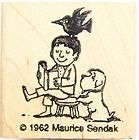 """Maurice Sendak """"One Was Johnny"""" Rubber Stamp by Kidstamps"""