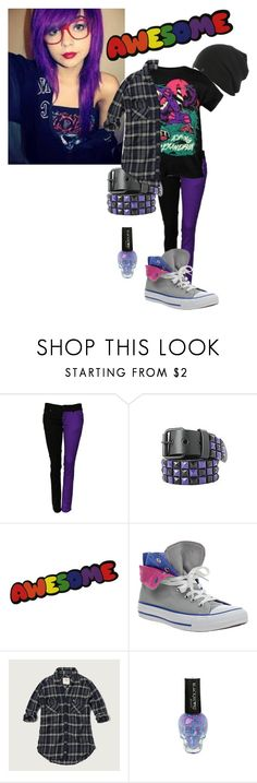"""""""Purple -contest-"""" by deathpanda12 ❤ liked on Polyvore featuring Converse and Abercrombie & Fitch"""