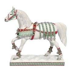 Add painted pony Silver Bells figurine to your collection of Trail of Painted Ponies horses! Tribal Tattoos, Tattoos Skull, Horse Tattoos, Christmas Horses, Noel Christmas, Xmas, All The Pretty Horses, Beautiful Horses, Unicorn Horse